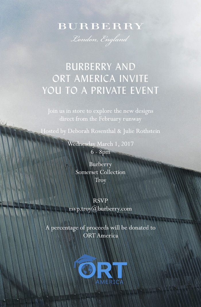 Burberry and ORT America @ Somerset Collection